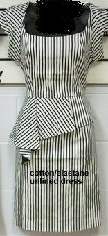 Stripe Corp Dress S8
